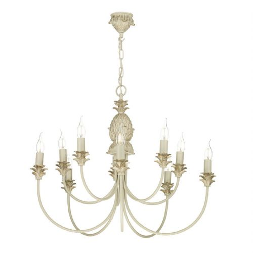 Cabana 10 Light Pendant Cream/Gold Fitting only (Hand made, 7-10 day Delivery)